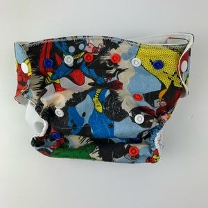 Custom made super hero diaper cover